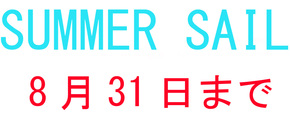 8月31日までノンブランドジュエリー5%OFF、サマーセール開催中!